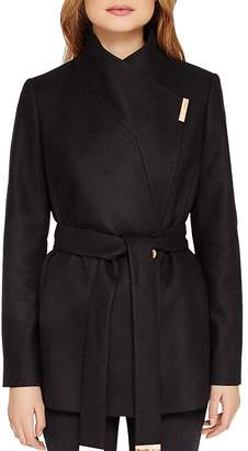 Ted Baker Keyla Short Wrap Coat $469 thestylecure.com