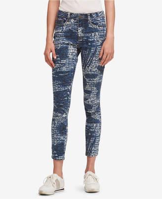 DKNY Splatter Logo Everywhere Skinny Jeans