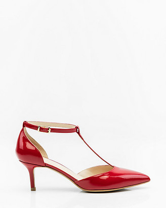 Le Château Italian-Made Patent Leather T-Strap Pump