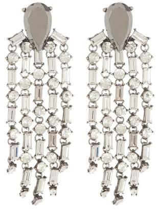 Steve Madden Crystal Dangle Post Earrings