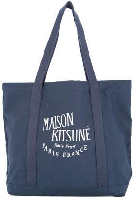 MAISON KITSUNÉ logo shopper tote bag