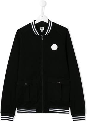 Karl Lagerfeld logo patch varsity jacket