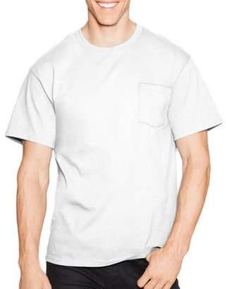 Hanes Men's Tagless Crew Neck Short Sleeve Pocket Tshirt