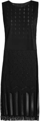 Pleats Please Issey Miyake Sleeveless Technical Knit Dress - Womens - Black