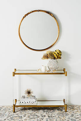 Anthropologie Oscarine Lucite Mirrored Console Table