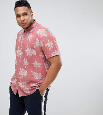 Asos DESIGN Plus regular fit floral shirt in pink
