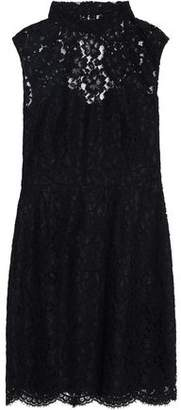 Sandro Open-Back Lace Mini Dress