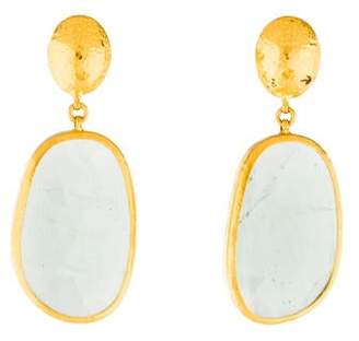 Gurhan 24K Aquamarine Drop Earrings