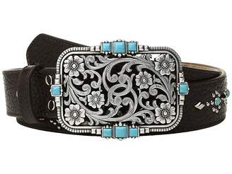 M&F Western Strap w/ Studs and Rectangular Buckle Belt