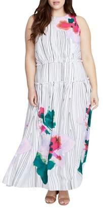 Rachel Roy Amalfi Tie Neck Maxi Dress (Plus Size)