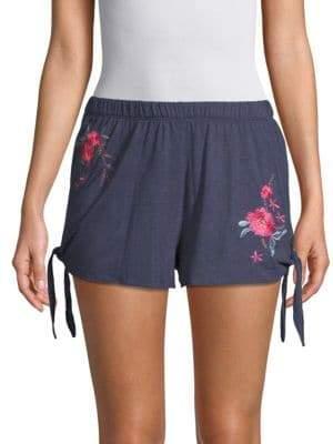 Josie Embroidered Floral Sleep Shorts
