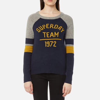 Superdry Women's Varsity Logo Knitted Jumper
