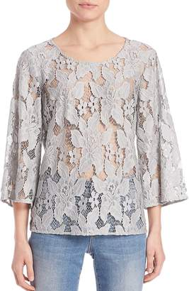 SET Women's Three-Quarter Sleeve Lace Blouse