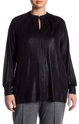 Melissa McCarthy Foiled Blouse (Plus Size)