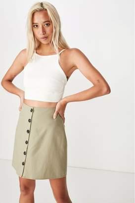 Cotton On Womens Woven Mini Skirt - Brown