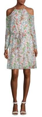 Julia Jordan Floral Cold-Shoulder Dress