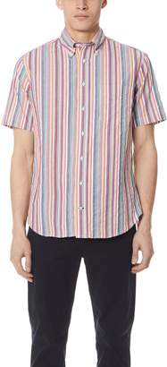 Gitman Brothers Short Sleeve Stripe Shirt