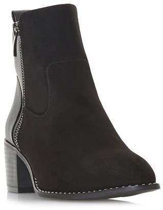 Head Over Heels by Dune - Black 'Patricias' Mid Block Heel Ankle Boots