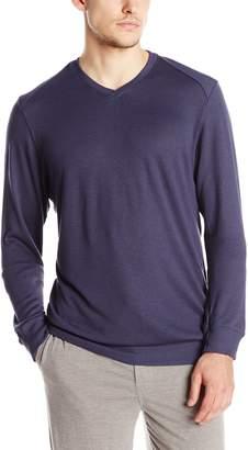 Hanro Men's Theophile V-Neck Lounge Pullover Top