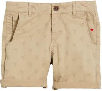Mayoral Palm Tree Cotton-Stretch Shorts, Size 4-7