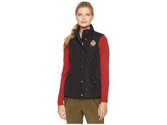 Lauren Ralph Lauren Quilted Vest w/ Heritage Crest