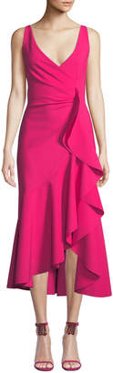 Chiara Boni Flounce-Ruffle Sleeveless Dress
