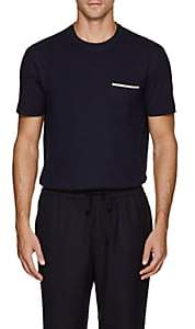 Brunello Cucinelli Men's Cotton Jersey Pocket T-Shirt - Navy
