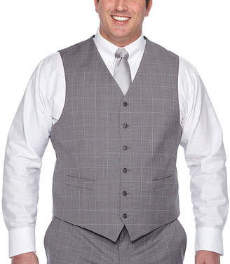 STAFFORD Stafford Grid Classic Fit Suit Vest - Big and Tall