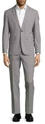 Vince Camuto Extreme Slim-Fit Plaid Wool Suit