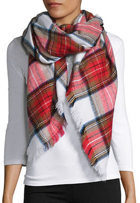 Lord & Taylor Plaid Blanket Scarf $38 thestylecure.com