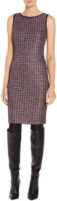 St. John Painterly Sheen Tweed Knit Dress