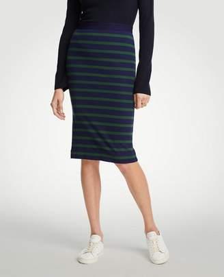 Ann Taylor Petite Striped Pencil Skirt