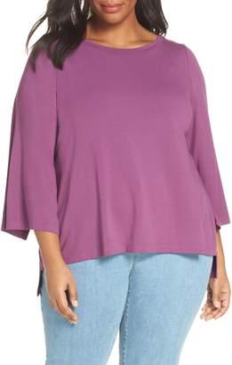 Eileen Fisher Split Sleeve Top