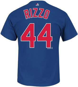 Majestic Big & Tall Chicago Cubs Anthony Rizzo Name and Number Tee