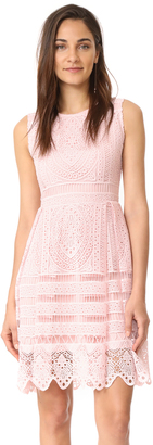 cupcakes and cashmere Summers Lace Fit And Flare Dress $145 thestylecure.com