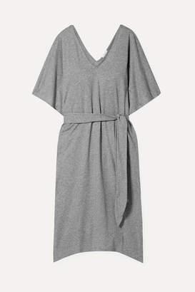 Eberjey Charlie Belted Slub Pima Cotton-jersey Dress - Gray