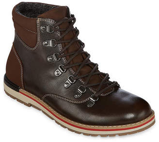 Jf J.Ferrar Mens Dawson Lace Up Boots Wedge Heel Lace-up