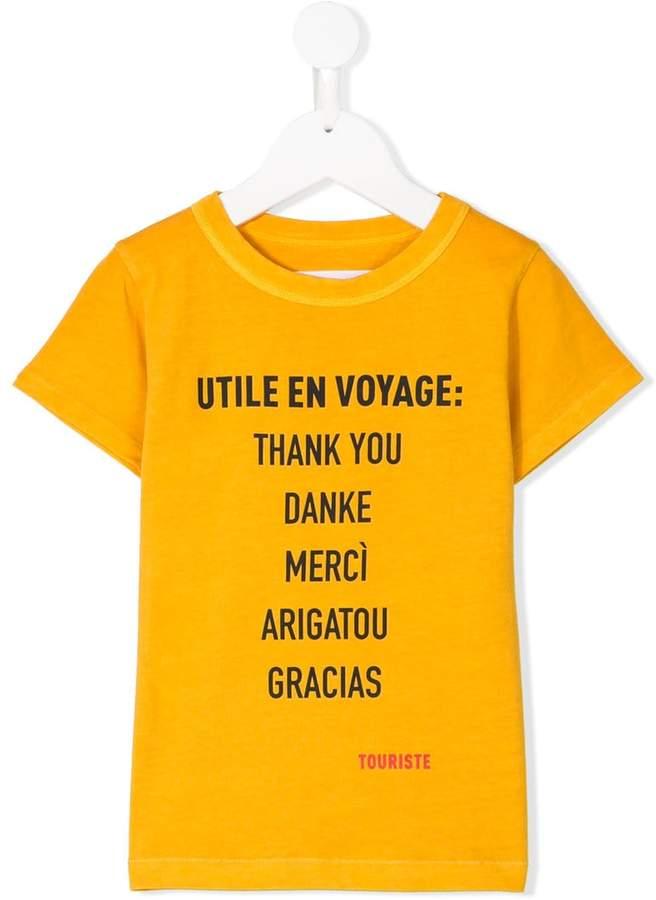 Touriste Thank You print T-shirt