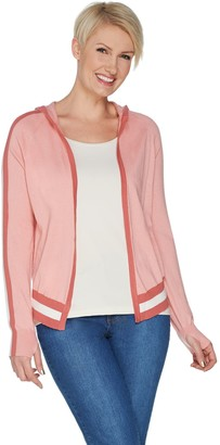 Lisa Rinna Collection Hooded Cardigan Sweater