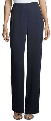 St. John Lightweight Satin-Back Crepe Pants