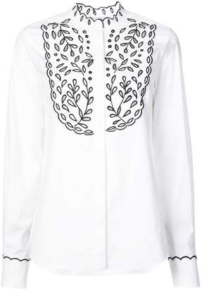 Oscar de la Renta eyelet embroidery blouse