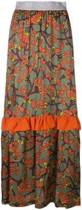I'M Isola Marras floral print long ruffle skirt