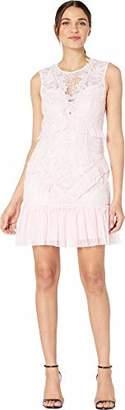Bardot BAU7N) Women's Round Neckline with lace Detailing Sleeveless Party Dress