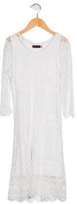Catimini Girls' Lace Long Sleeve Dress
