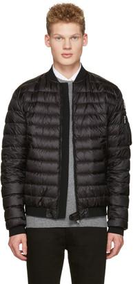 Moncler Black Down Aidan Bomber Jacket $975 thestylecure.com