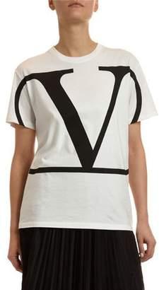Valentino Short-Sleeve Logo Jersey T-Shirt