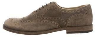 Bottega Veneta Distressed Leather Brogues
