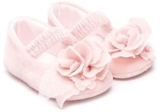 MonnaLisa floral appliqué ballerinas