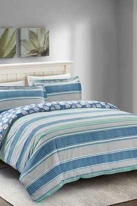 California Design Den by NMK Nautical Stripe Duvet Cover Set - Blue