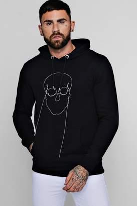 boohoo Skull Chain Embellished Fleece Hoodie